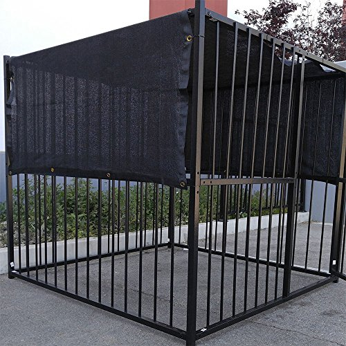 6′ X 10′ Black UV Rated Dog Kennel Shade Cover W/Grommets
