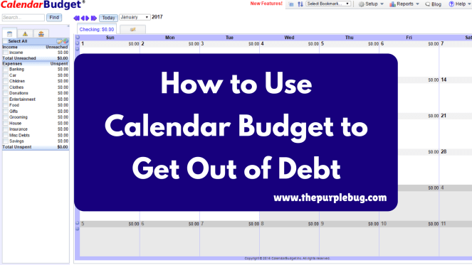 Use Calendar Budget to take control of your finances, get out of debt, build up savings, and create a better future for yourself.