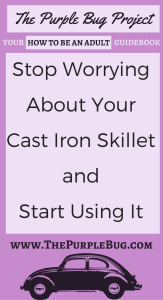 Stop Worrying About Your Cast Iron Skillet and Start Cooking With - The Purple Bug Project