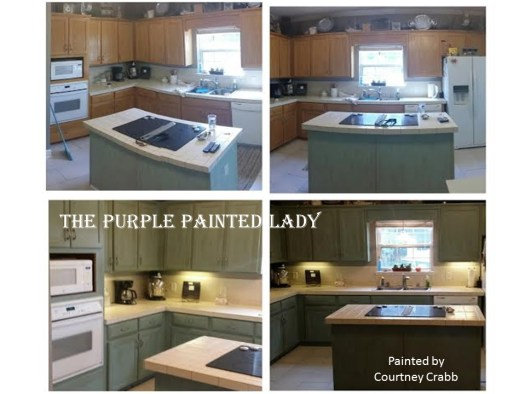 Painted Kitchen Cabinets Courtney Crabb My Customer The Purple Lady