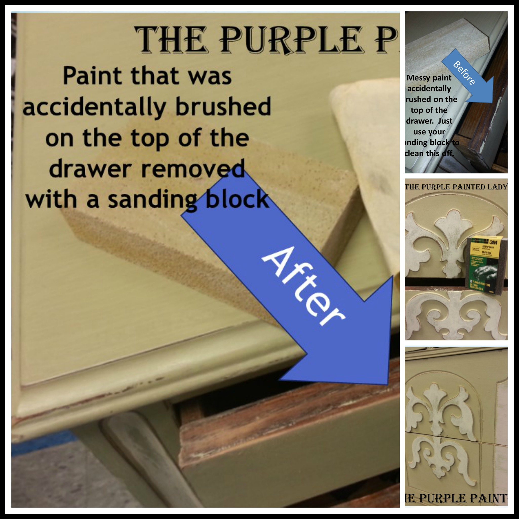 Sanding Chalk Paint Before OR After Waxing  The Purple