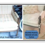 Using Chalk Paint To Paint Your Couch Or Wing Back Chair Fabric Or Leather The Purple Painted Lady