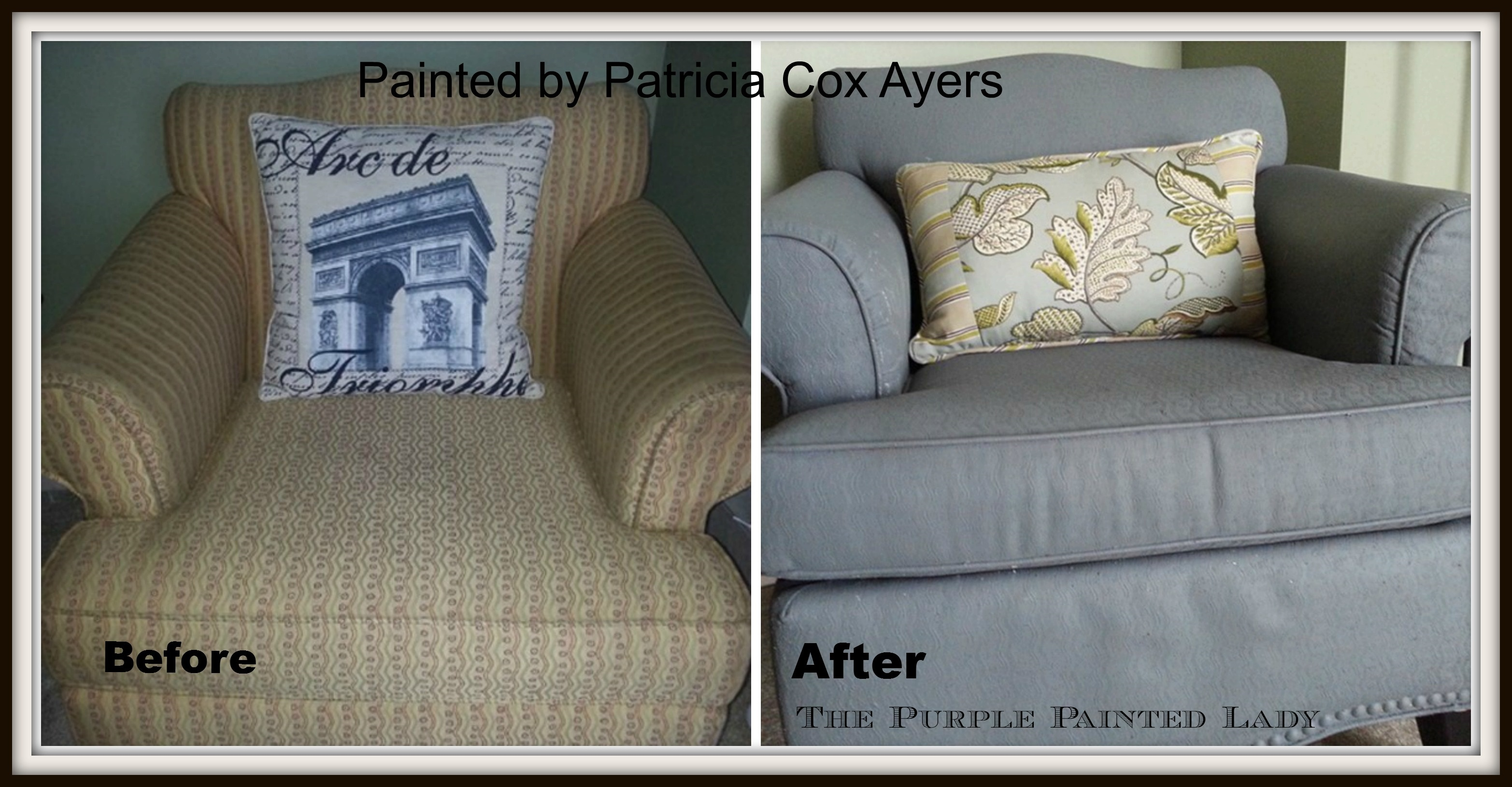 can i spray paint my leather sofa baroque furniture chalk on the purple painted lady