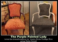 chalk paint on leather | The Purple Painted Lady