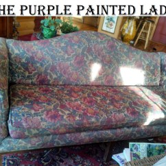 Easy To Clean Sofa Material Tapestry Fabric Using Chalk Paint Your Couch Or Wing Back Chair The Purple Painted Lady Painting A Before After 1