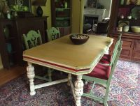 Florence Chalk Paint Dining Room Table by Indigo Tones ...