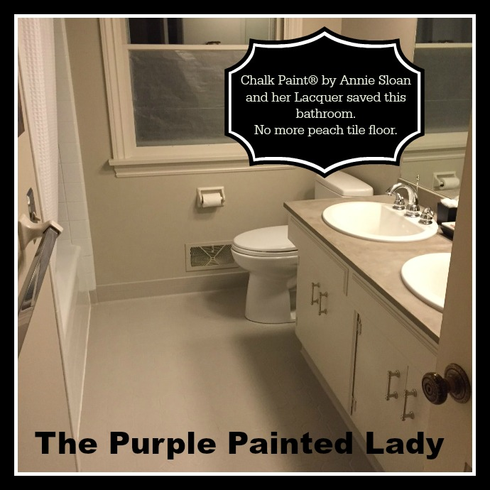 Painting Tile In The Bathroom With Chalk Paint The
