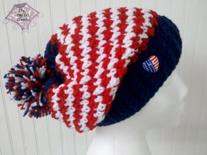 Team USA hounds tooth hat