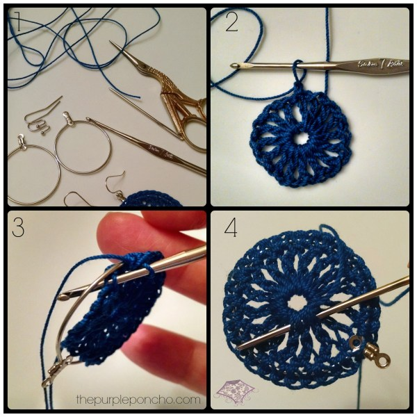 Lacy Hoop Earrings Photo Tutorial by The Purple Poncho