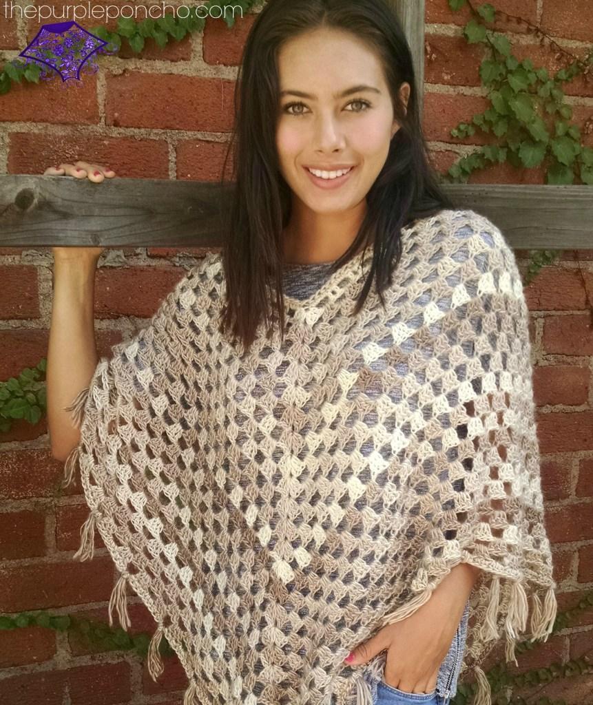 Timeless Boho Poncho – Free Crochet Pattern – The Purple Poncho