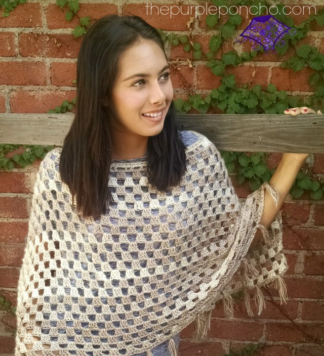 Timeless Boho Poncho-The Purple Poncho