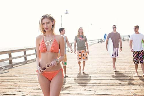 Coral-Bikini-on-Boardwalk design by Carolyn Calderon