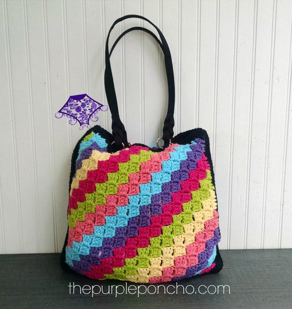 C2C Crochet Tote Bag Design by Carolyn Calderon
