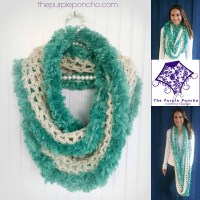 Seamist Infinity Scarf  Crochet Pattern  The Purple Poncho