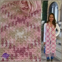 Planned Color Pooling Crochet Argyle Super Scarf
