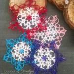 Colorful Crochet Snowflake Pattern