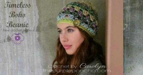 Timeless Boho Beanie - Free Crochet Pattern