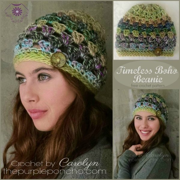 191eb521 Timeless Boho Beanie - Free Crochet Pattern - The Purple Poncho