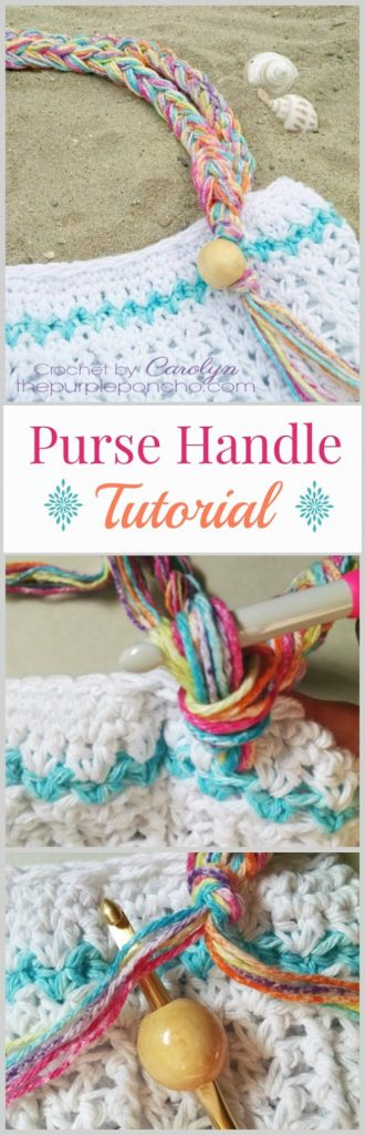 Crochet Purse Handle With Beads And Fringe Tutorial The Purple Poncho