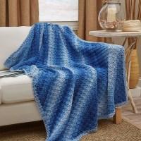 Corner-To-Corner Ombre Throw - Free Crochet Pattern