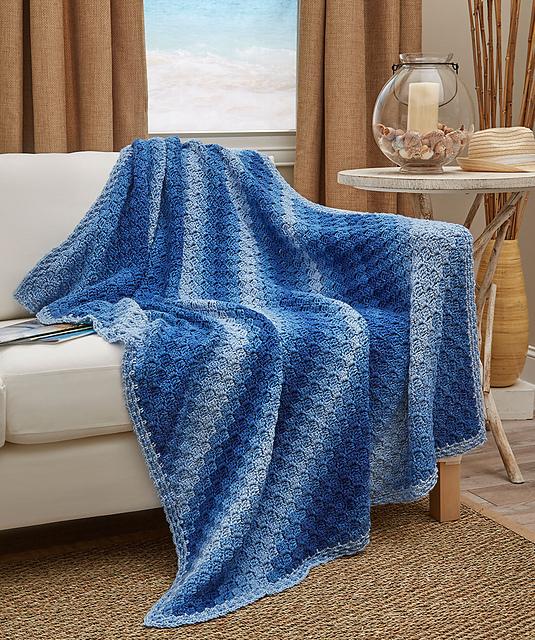 Corner-To-Corner Ombre Throw - Free Crochet Pattern - The