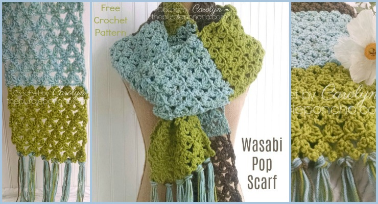 Wasabi Pop Scarf - Free Crochet Pattern