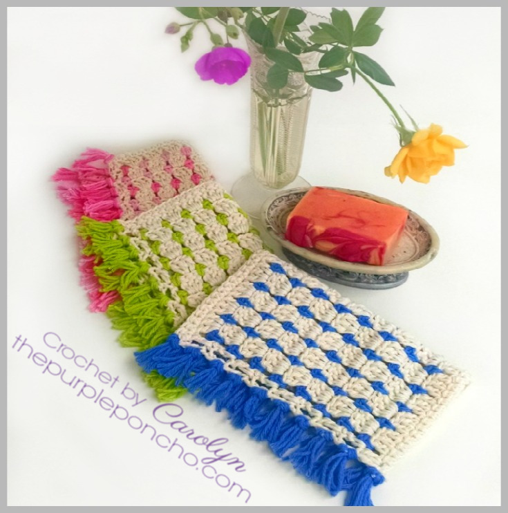 Block Stitch Dishcloth Free Crochet Pattern The Purple Poncho