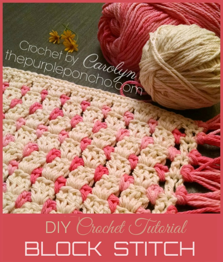 Diy Crochet Tutorial Learn How To Make The Block Stitch The