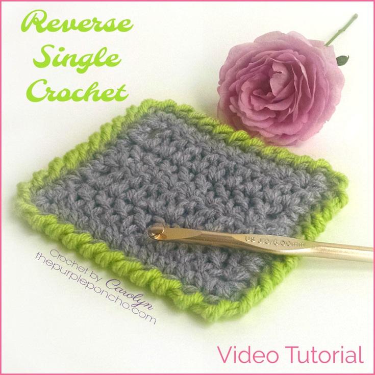 DIY Crochet Tutorial - Reverse Single Crochet Stitch