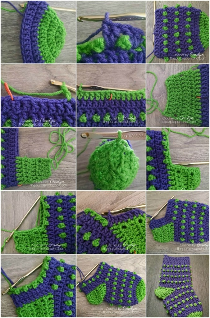 Holly Berry Stocking – Free Crochet Pattern – The Purple Poncho