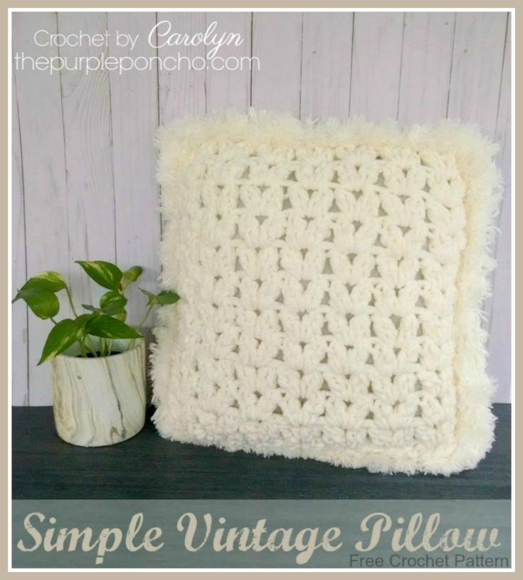 Simple Vintage Pillow Free Crochet Pattern The Purple Poncho
