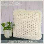 Simple Vintage Pillow – Free Crochet Pattern