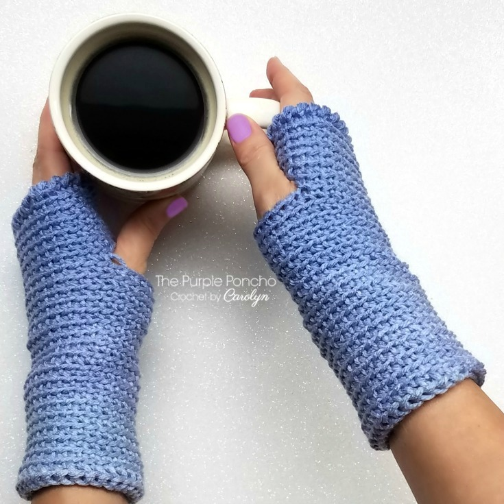 Free Crochet Pattern Ombre Fingerless Gloves The Purple Poncho