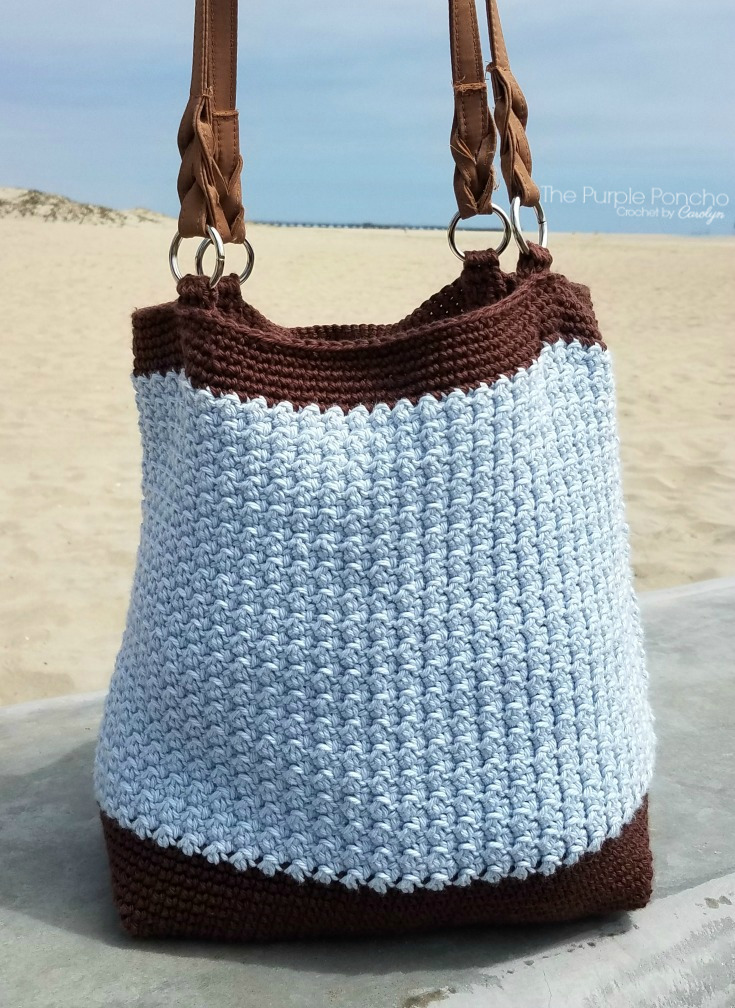Driftwood Tote Bag Free Crochet Pattern – The Purple Poncho