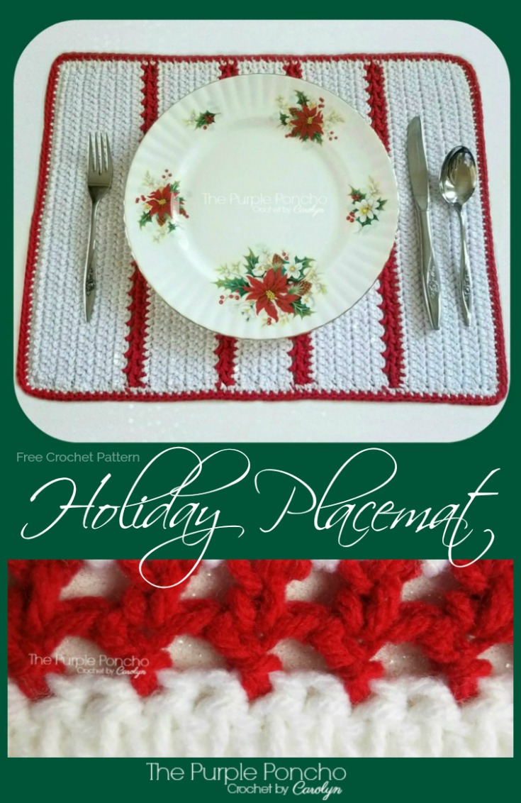 Holiday Placemat Free Crochet Pattern The Purple Poncho