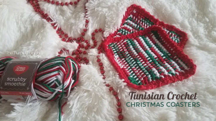 Christmas Coasters Free Crochet Pattern The Purple Poncho