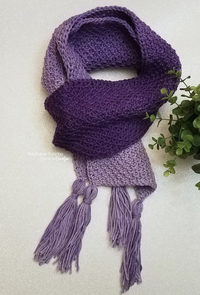 Ombre Scarf Free Crochet Pattern The Purple Poncho