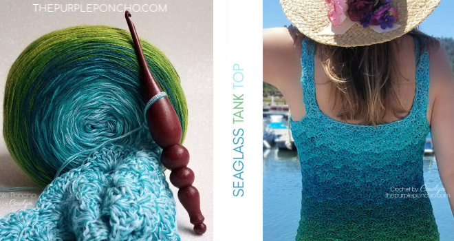 Seaglass Tank Top Free Crochet Pattern - The Purple Poncho