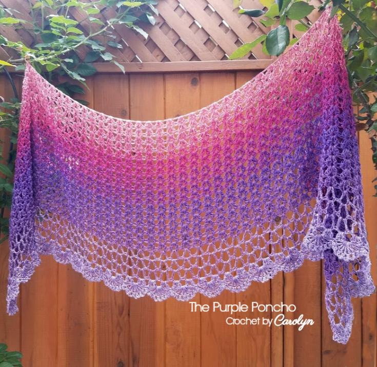 Zen Garden Shawl by Caroline @ The Purple Poncho