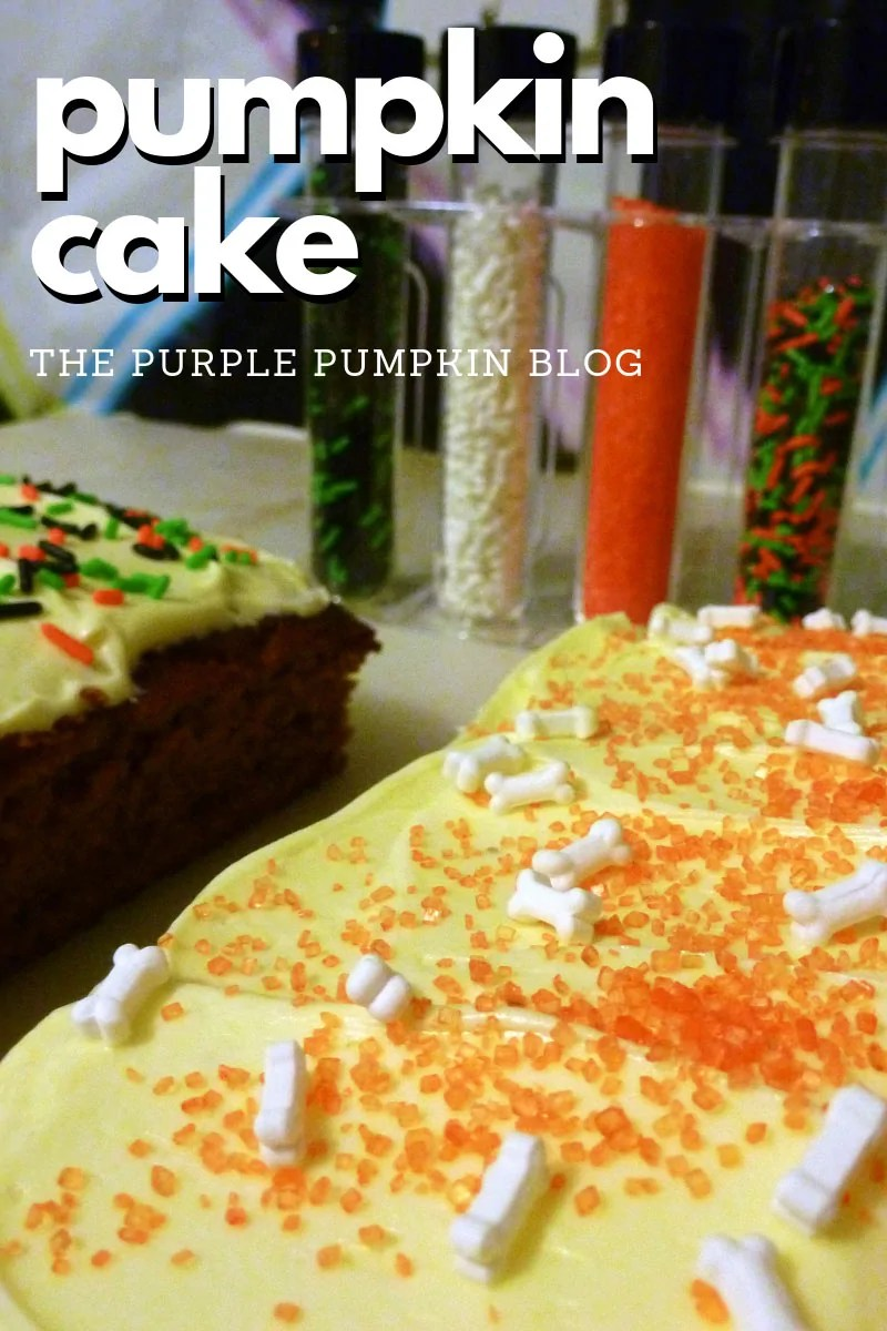 Pumpkin Cake with Halloween sprinkles