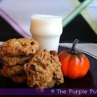 Pumpkin, Cranberry & Pecan Cookies