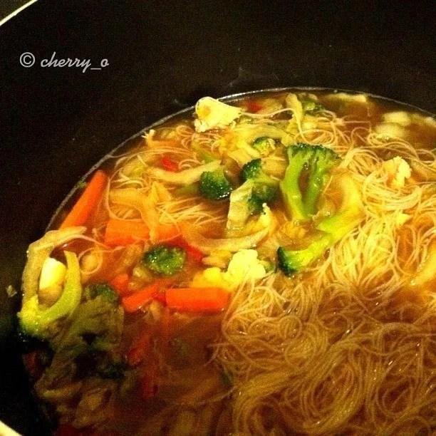 Chicken Vegetable Noodle Miso Soup