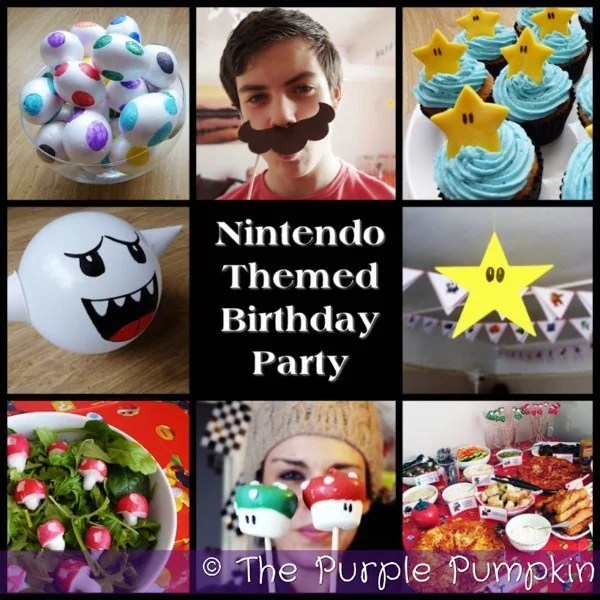 Nintendo Themed Birthday Party