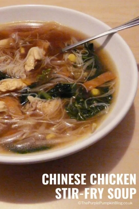 Chinese Chicken Stir-Fry Soup - a dish to make when you've got all the ingredients for a chicken stir-fry, but don't really fancy a stir-fry! Turn it into a soup!