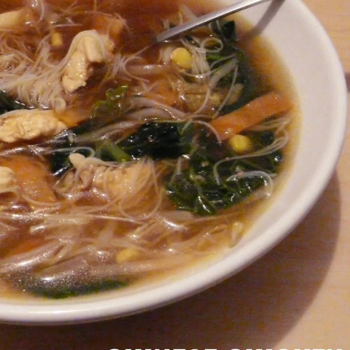 Chinese Chicken Stir-Fry Soup