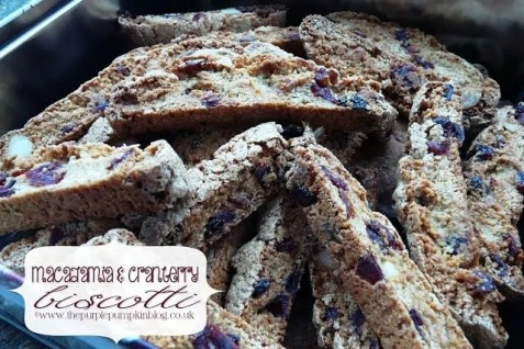 Macadamia and Cranberry Biscotti