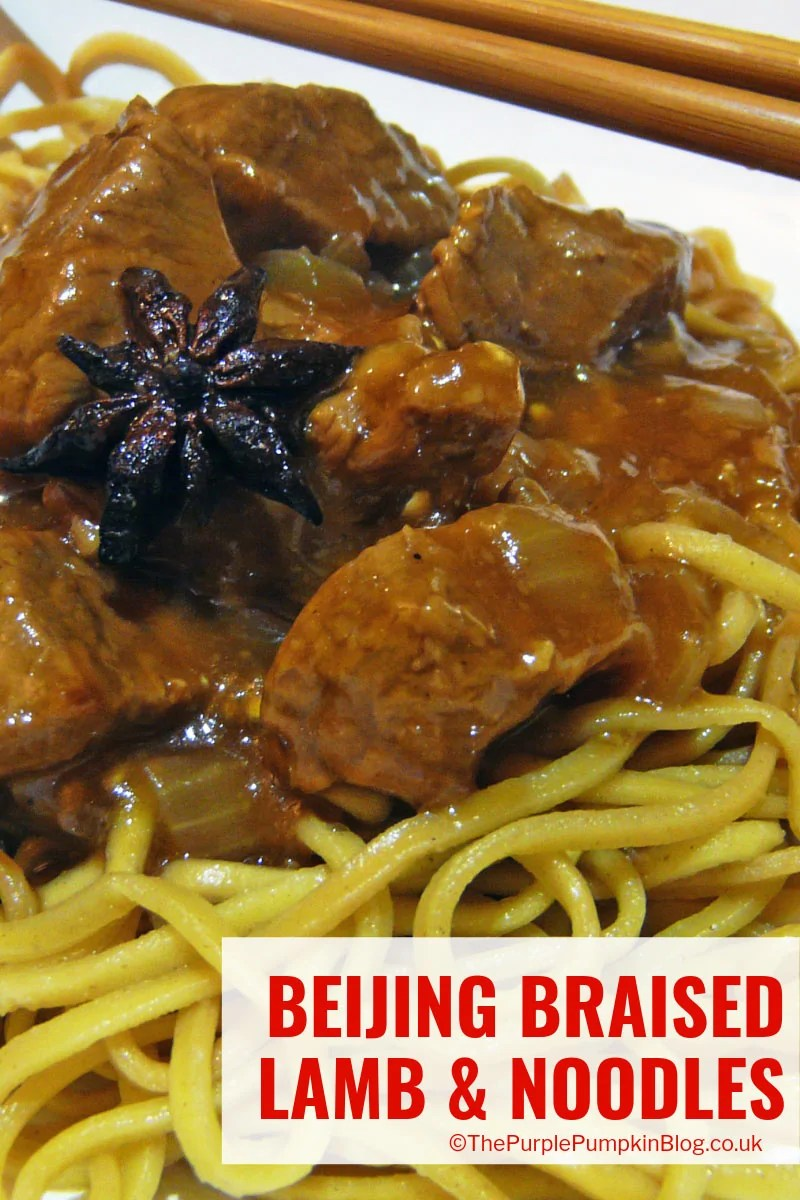 This Beijing Braised Lamb & Noodles is absolutely delicious and a great dish to serve for Chinese New Year or special occasion.