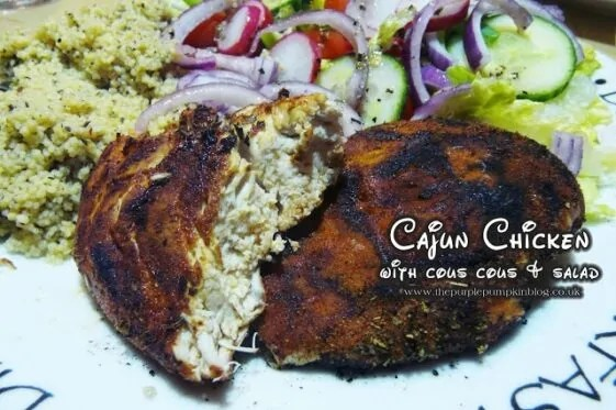 Cajun Chicken with Couscous Salad