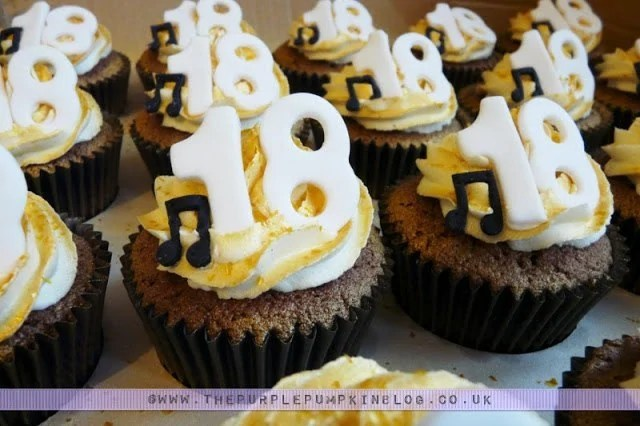 18th Birthday Cupcakes Gold With Musical Notes