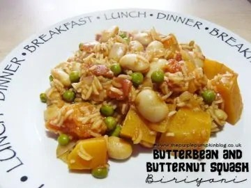 Butter Bean and Butternut Squash Biriyani